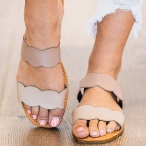 Shoes - Molly Scalloped Slides